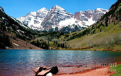 Photograph - Maroon Bells I by Christine S Zipps