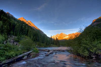 Photograph - Maroon Cascades by Ryan Heffron