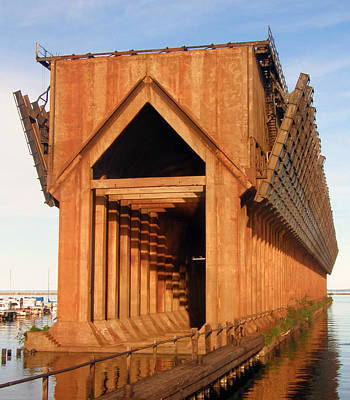 Photograph - Marquette Ore Docks by Mark J Seefeldt