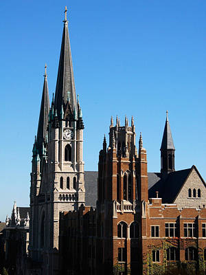 Photograph - Marquette Towers Of Gesu Church And Marquette Hall by Marquette University