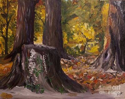 Marr Park Trees Of Fall Art Print by Art Hill Studios