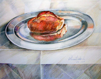 Condor Drawing - Marraqueta Sobre Bandeja by Sonia Tudela