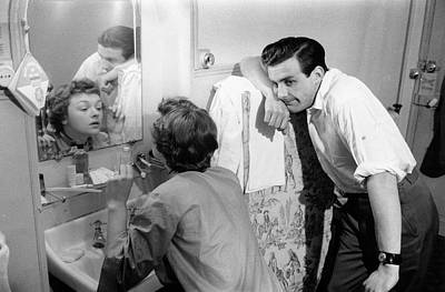 Domestic Bathroom Photograph - Marriage Trouble by Kurt Hutton