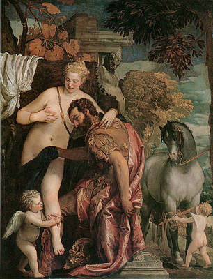 Partial Nude Painting - Mars And Venus United By Love by Paolo Veronese