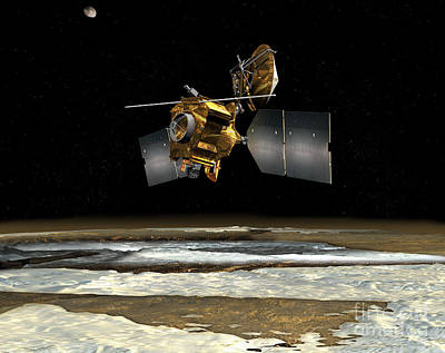 Digital Art - Mars Reconnaissance Orbiter by Stocktrek Images