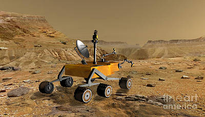 Soil Digital Art - Mars Science Laboratory Travels by Stocktrek Images