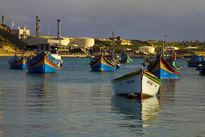 Marsaxlokk Photograph - Marsaxlokk Boats by Michelle Lia