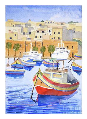 Marsaxlokk Harbour Art Print