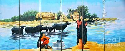 Marsh Arabs - Basrah Iraq Art Print by Unknown - Local National