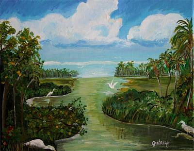 Wetlands Painting - Marsh Birds by Paintings by Gretzky