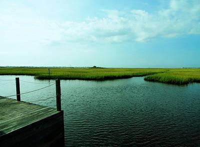 Photograph - Marsh Land Of Barnegat Bay - Jersey Shore by Angie Tirado