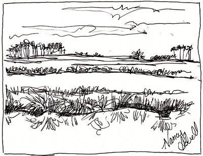 Marsh Art Print by Michele Hollister - for Nancy Asbell