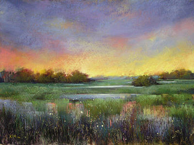 Pastel - Marsh Twilight by Karen Margulis