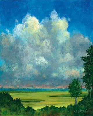 Marsh With Palms Art Print by John Brown