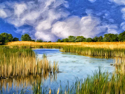 Isle Of Palms Painting - Marshlands On Isle Of Palms by Dominic Piperata