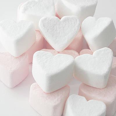 Marshmallow Love Hearts Print by Kim Haddon Photography