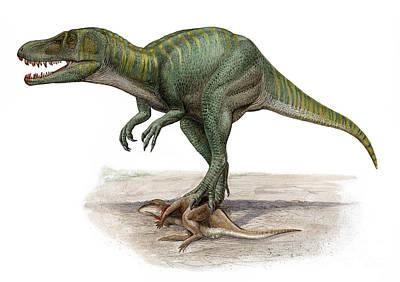 Carcass Digital Art - Marshosaurus Bicentesimus by Sergey Krasovskiy