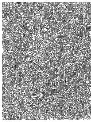 Filigree Drawing - Martian Lander Open Landscape by Power City Images