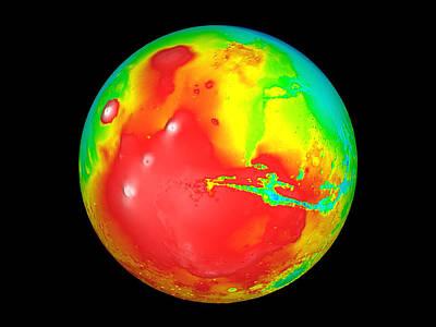 Tharsis Photograph - Martian Topography by Nasa
