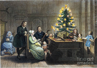 Christmas Eve Photograph - Martin Luther (1483-1546) by Granger