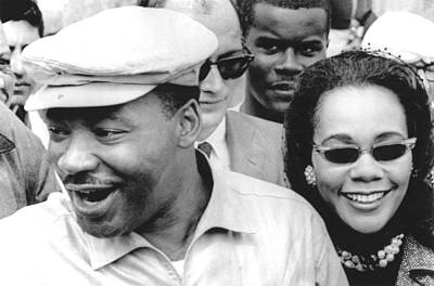 Martin Luther King Jr. And Coretta Print by Everett
