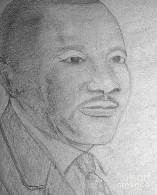 Freedom Fighter Drawing - Martin Luther King by Leo Price