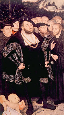 Martin Luther Left With His Friends Art Print by Everett