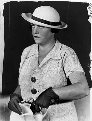 Police Woman Photograph - Mary Agnes Shanley, New York City by Everett