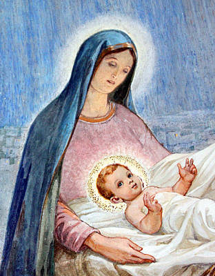 Mary And Baby Jesus At Shepherds Fields Original