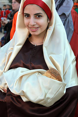 Mary And Baby Jesus At The Christmas March In Bethlehem Original
