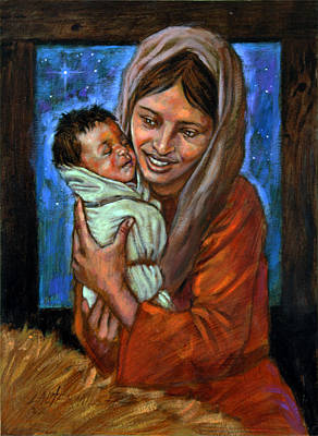 Painting - Mary And Jesus by John Lautermilch
