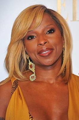 Mary J. Blige In Attendance For 2nd Art Print by Everett