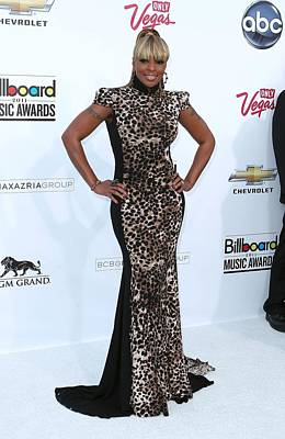 Mora Photograph - Mary J. Blige Wearing A Marc Bouwer by Everett
