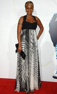 Empire Waist Photograph - Mary J. Blige Wearing An Emilio Pucci by Everett