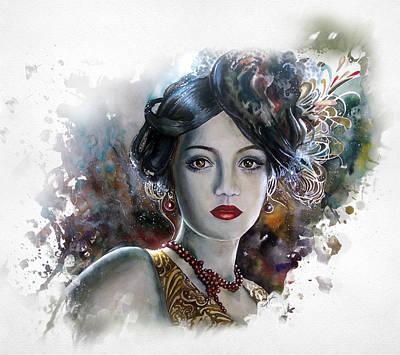 Mary Lips Like Cherries Art Print by Tanya Jacobsz