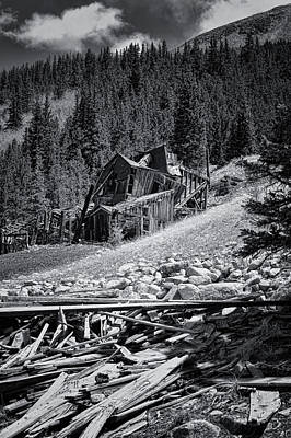 Photograph - Mary Murphy Mine B And W by Ellen Heaverlo
