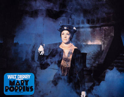Mary Poppins, Julie Andrews, 1964 Art Print by Everett