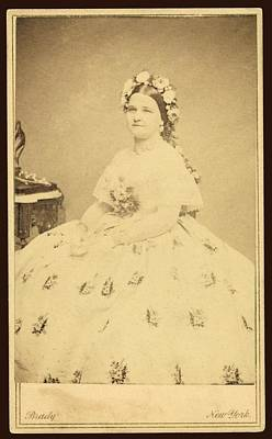 Mary Todd Lincoln 1818-1882 Art Print by Everett