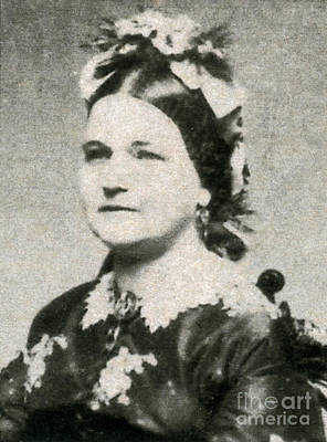 Bipolar Photograph - Mary Todd Lincoln, First Lady by Photo Researchers