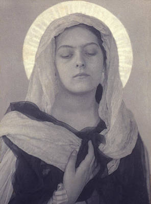 Platinum Photograph - Mary, Woman Posed As Virgin Mary by Everett