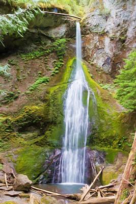 Photograph - Marymere Falls by Heidi Smith