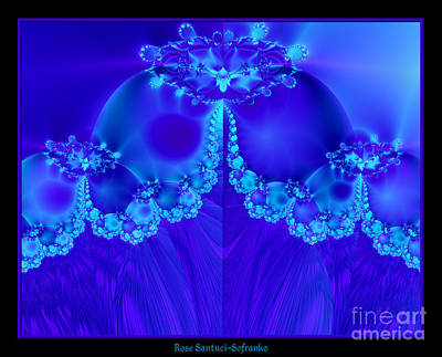 Mother Mary Digital Art - Marys Veil Fractal 60 by Rose Santuci-Sofranko