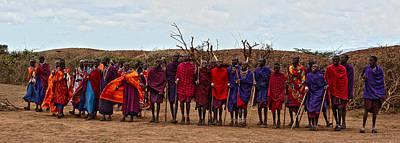 Photograph - Masai Lineup by Marie Morrisroe