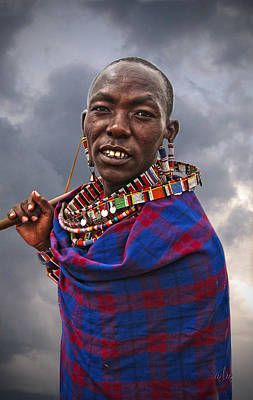Photograph - Masai Man by Marie Morrisroe