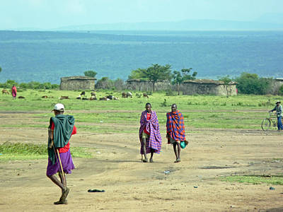 Photograph - Masai Village by Tony Murtagh