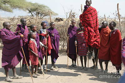 Masai Warriors Jumping Art Print by Scotts Scapes