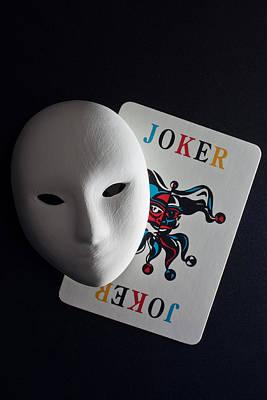 Mask And Joker Print by Kantapong Phatichowwat