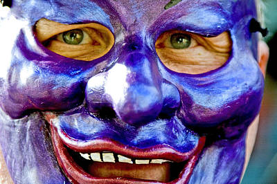 Mask At New Orleans Mardi Gras Parade, New Orleans, Louisiana, United States Of America, North America Art Print by Ray Laskowitz