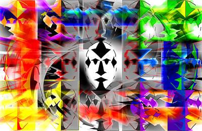 Mask Contemplations Art Print by AW Sprague II