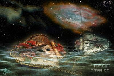 Mask Nebulae Art Print by Rosa Cobos